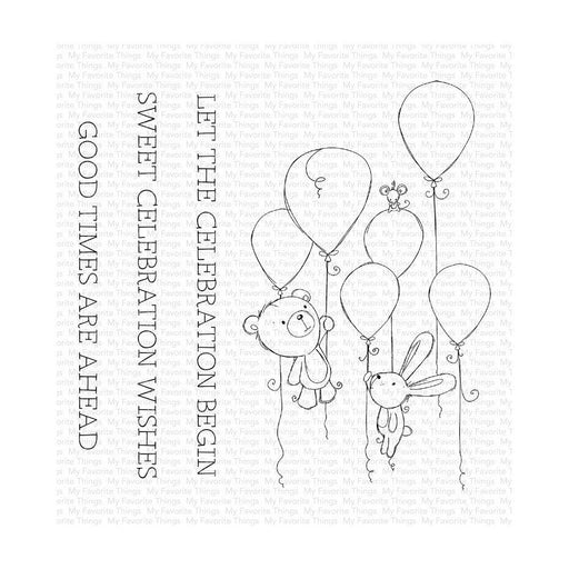 "My Favorite Things 4""x4"" Clear Stamps: Sweet Celebration (RAM008)-Only One Life Creations"
