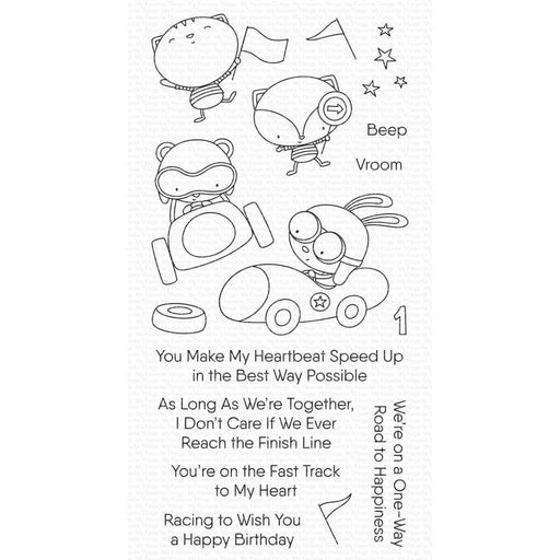 "My Favorite Things 4""x8"" Clearly Sentimental Stamps: Fast Track Friends (CS545)-Only One Life Creations"