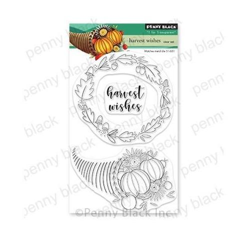 "Penny Black 4""x6"" Clear Stamps: Harvest Wishes (PB30728)-Only One Life Creations"