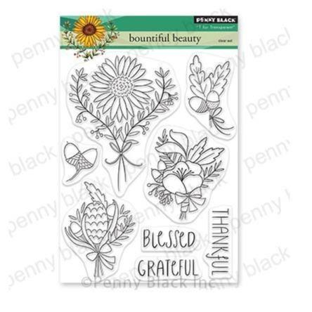 "Penny Black 5""x6.5"" Clear Stamps: Bountiful Beauty (PB30719)-Only One Life Creations"