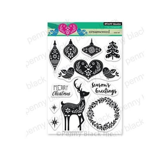 Penny Black Clear Stamps: Ornamented (PB30747)-Only One Life Creations