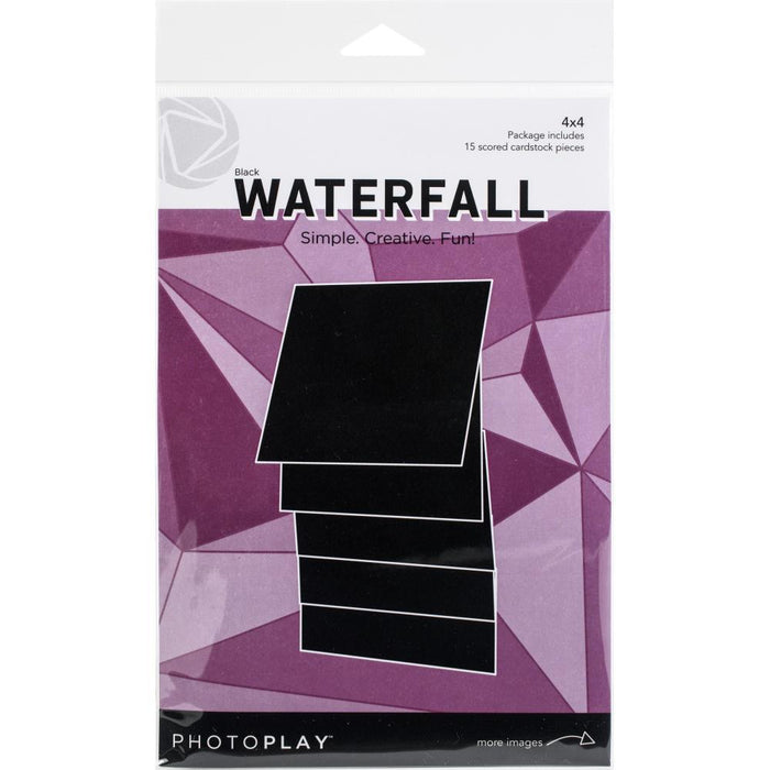 "PhotoPlay Maker Series 4""X4"" Manual: Black Waterfall (PPP2162)-Only One Life Creations"
