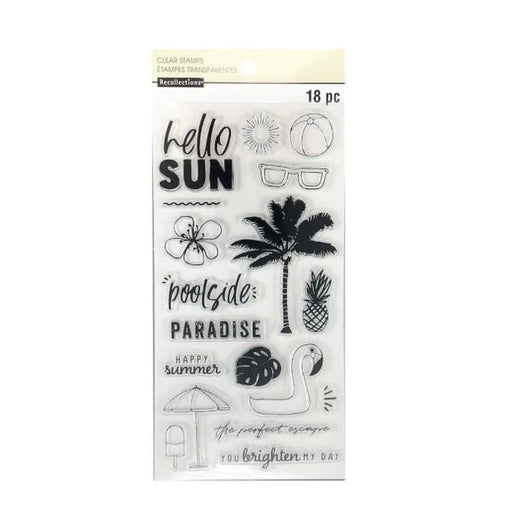 "Recollections 4""x8"" Clear Stamps: Happy Summer (624136)-Only One Life Creations"