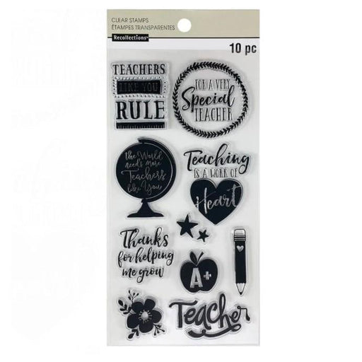 "Recollections 4""x8"" Clear Stamps: Teacher Appreciation (624134)-Only One Life Creations"