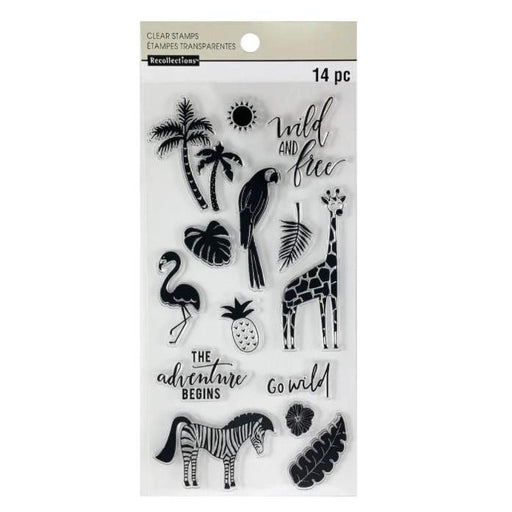 "Recollections 4""x8"" Clear Stamps: Wild and Free (624133)-Only One Life Creations"