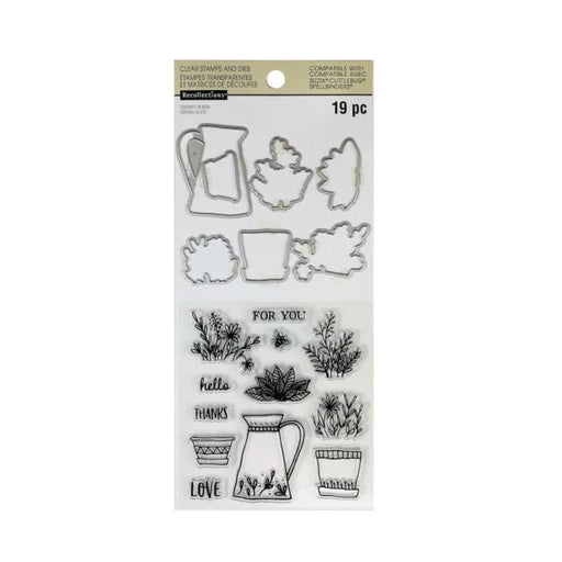 Recollections Clear Stamp and Die Set: Botanical (624140)-Only One Life Creations