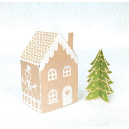 Recollections Clear Stamp and Die Set: Gingerbread House (529185)-Only One Life Creations