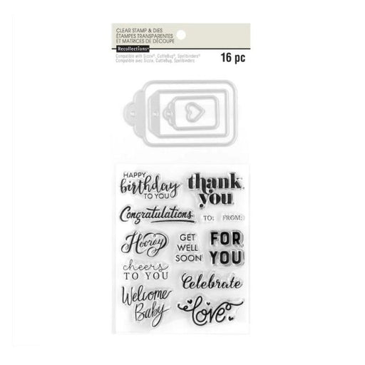 Recollections Clear Stamp and Die Set: Tags (609981)-Only One Life Creations