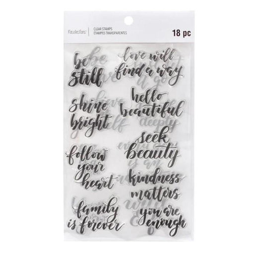 Recollections Clear Stamps: Be Still (624719)-Only One Life Creations