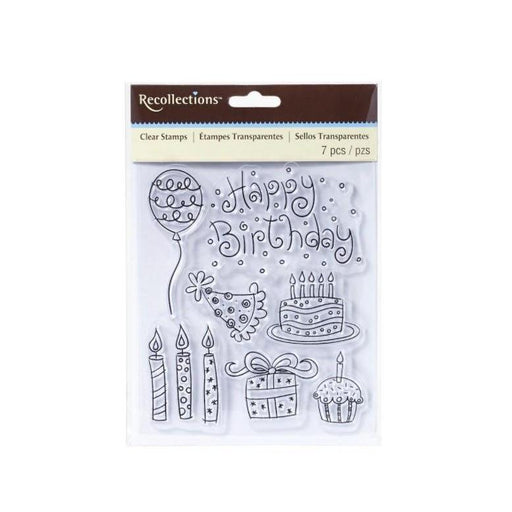 Recollections Clear Stamps: Doodle Birthday (119936)-Only One Life Creations