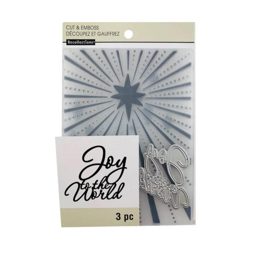 Recollections Embossing Folder and Die: Joy To The World (624112)-Only One Life Creations