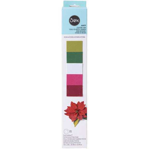 "Sizzix 12""x24"" Surfacez Sculpting Foam: Festive (664674)-Only One Life Creations"