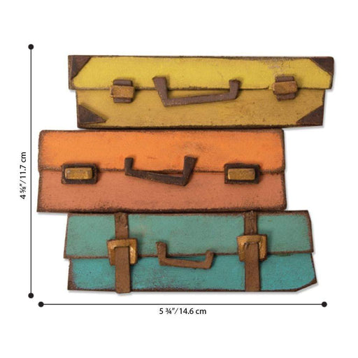 Sizzix Bigz Die: Baggage Claim, by Tim Holtz (664439)-Only One Life Creations