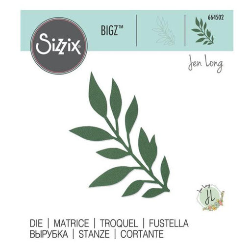 Sizzix Bigz Die By Jen Long: Gathered Leaves (664502)-Only One Life Creations
