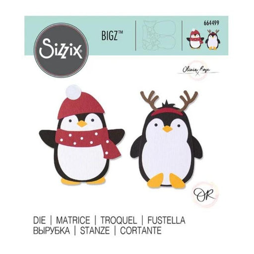 Sizzix Bigz Die By Olivia Rose: Pengiun Friends (664499)-Only One Life Creations