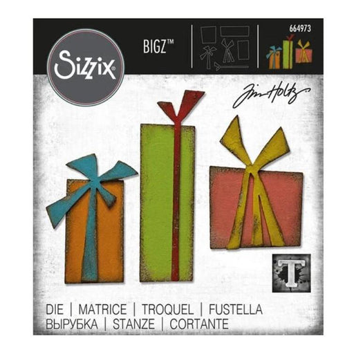 Sizzix Bigz Die By Tim Holtz: Gift Wrap (664973)-Only One Life Creations