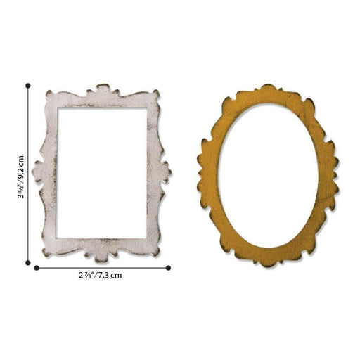 Sizzix Bigz Die: Decor Frames, by Tim Holtz (664440)-Only One Life Creations