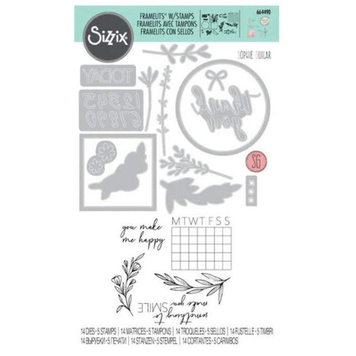 Sizzix Framelits Die & Stamp Set: Time Out, by Sophie Guilar (664490)-Only One Life Creations