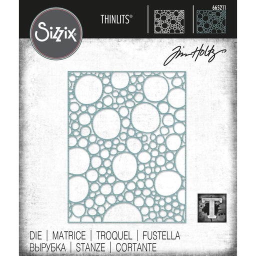 Sizzix Thinlits Die: Bubbling, by Tim Holtz (665211)-Only One Life Creations
