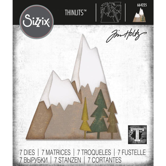 Sizzix Thinlits Dies: Alpine, 7/Pkg, by Tim Holtz (664225)-Only One Life Creations