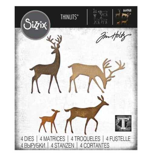 Sizzix Thinlits Dies By Tim Holtz: Darling Deer (664968)-Only One Life Creations