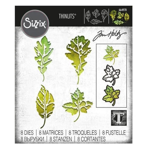 Sizzix Thinlits Dies By Tim Holtz: Leaf Print (664970)-Only One Life Creations