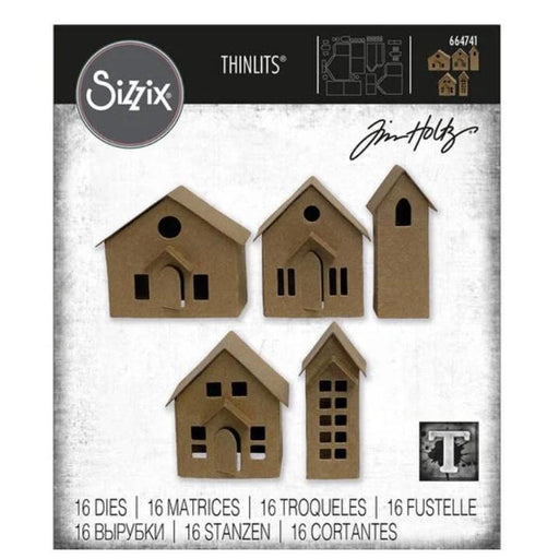 Sizzix Thinlits Dies By Tim Holtz: Paper Village (664741)-Only One Life Creations