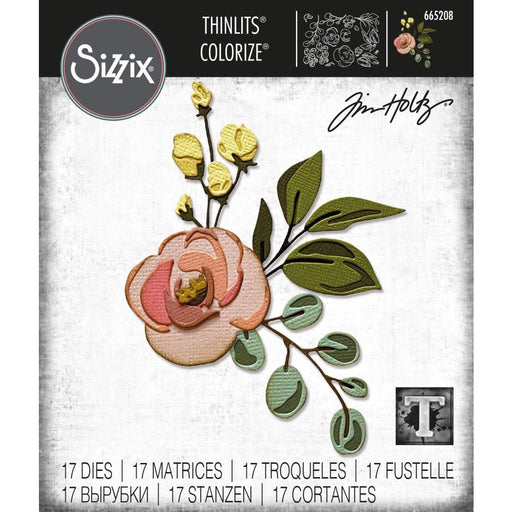 Sizzix Thinlits Dies: Colorize Bloom, by Tim Holtz (665208)-Only One Life Creations