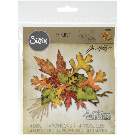 Sizzix Thinlits Dies: Fall Foliage by Tim Holtz (660955)-Only One Life Creations