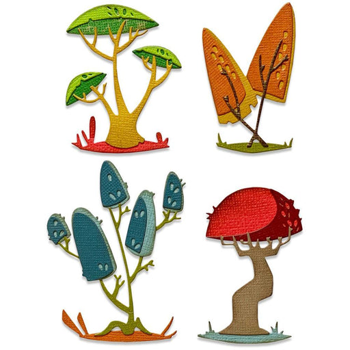 Sizzix Thinlits Dies: Funky Toadstools, by Tim Holtz (665216)-Only One Life Creations