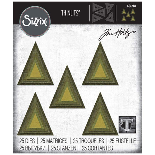 Sizzix Thinlits Dies: Stacked Tiles Triangles, by Tim Holtz (664748)-Only One Life Creations