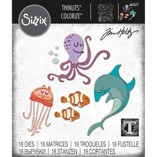 Sizzix Thinlits Dies: Under the Sea #1 Colorize by Tim Holtz (665377)-Only One Life Creations