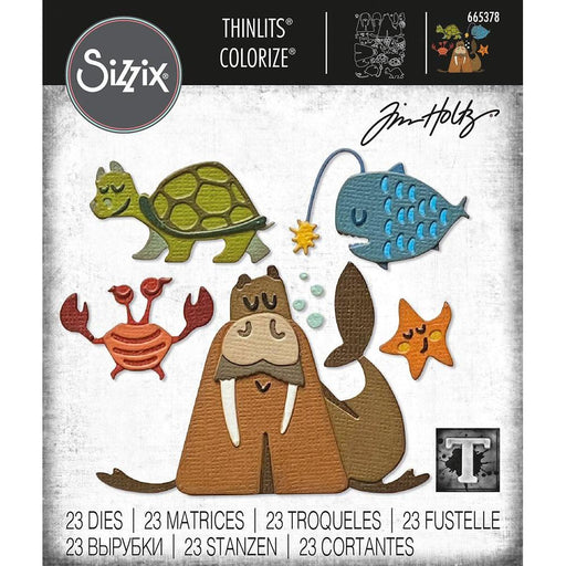 Sizzix Thinlits Dies: Under the Sea #2 Colorize by Tim Holtz (665378)-Only One Life Creations