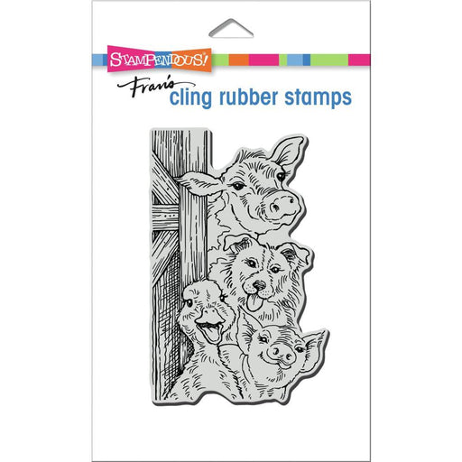 "Stampendous 4.25""x5.5"" Cling Stamp: Funny Farm (CRP354)-Only One Life Creations"