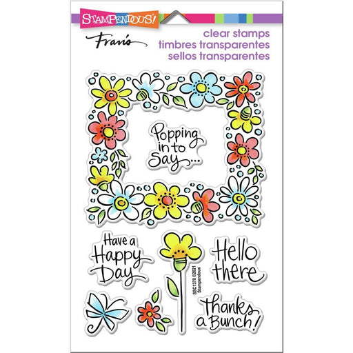 "Stampendous 4""x5.5 Clear Stamp: Flower Frame (SSC1370)-Only One Life Creations"