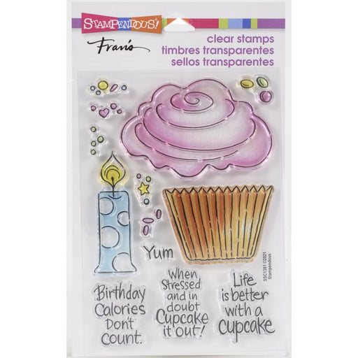 "Stampendous 4""x5.5 Clear Stamp: Pop Cupcake (SSC1381)-Only One Life Creations"