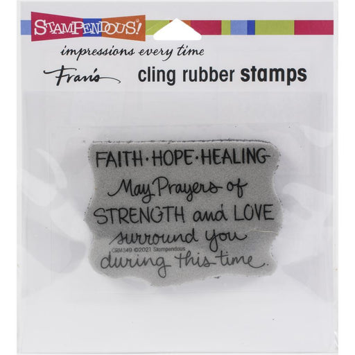 Stampendous Cling Stamps: Faith Hope Healing (CRM349)-Only One Life Creations