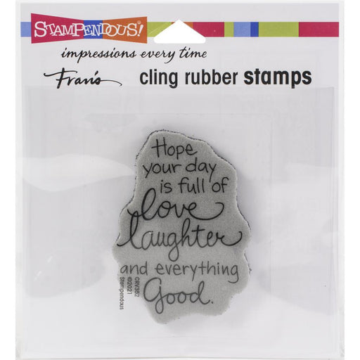Stampendous Cling Stamps: Love Laughter (CRV352)-Only One Life Creations