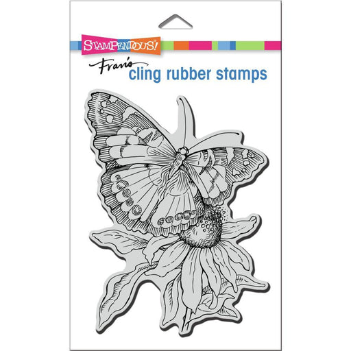 Stampendous Cling Stamps: Painted Lady (CRR332)-Only One Life Creations