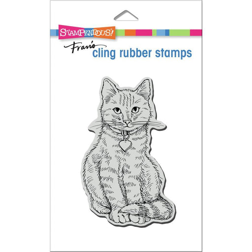 Stampendous Cling Stamps: Sitting Kitty (CRP368)-Only One Life Creations