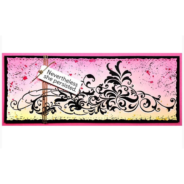 Stampendous Cling Stamps: Slim Vintage Border (CSL04)-Only One Life Creations