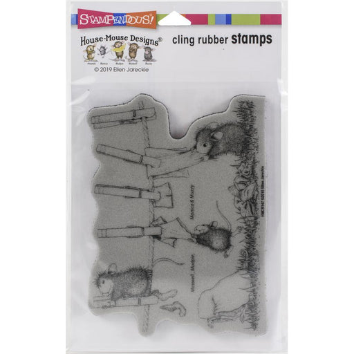 Stampendous House Mouse Cling Stamp: Doing Laundry (HMCR147)-Only One Life Creations