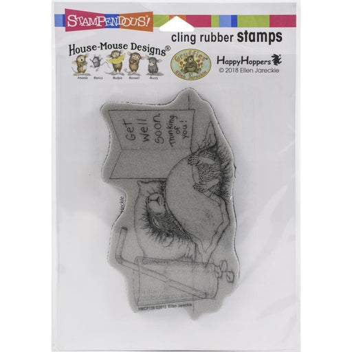 Stampendous House Mouse Cling Stamp: Get Well Soon (HMCP139)-Only One Life Creations