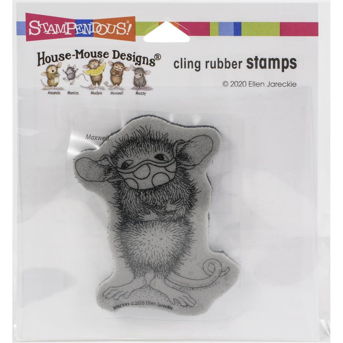 Stampendous House Mouse Cling Stamp: Masked Maxwell (HMCV41)-Only One Life Creations