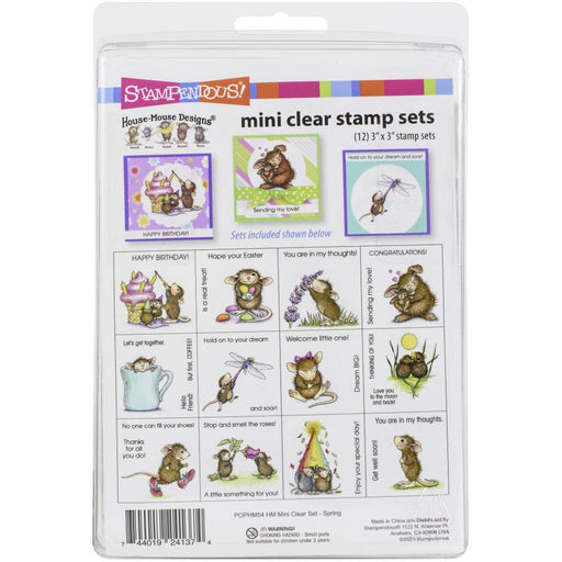 Stampendous House Mouse Mini Clear Stamp Set: Spring (POPHM54)-Only One Life Creations