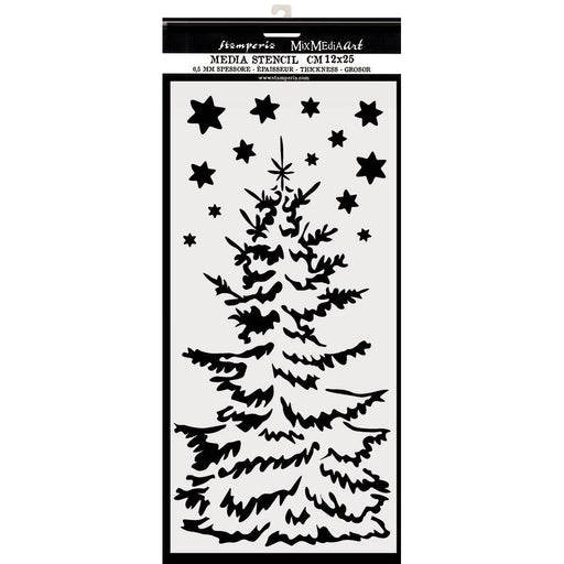 "Stamperia 5""x10"" Stencil: Christmas Tree (KSTDL36)-Only One Life Creations"