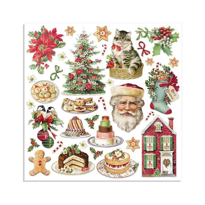 "Stamperia 8""x8"" Double Sided Paper: Classic Christmas (SBBS17)-Only One Life Creations"