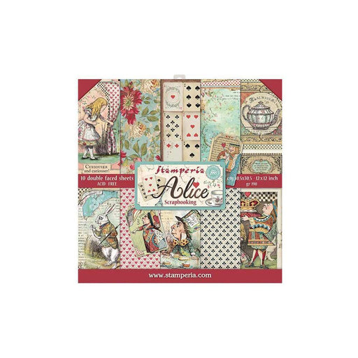 "Stamperia Alice 12""x12"" Double Sided Paper Pad (SBBL52)-Only One Life Creations"