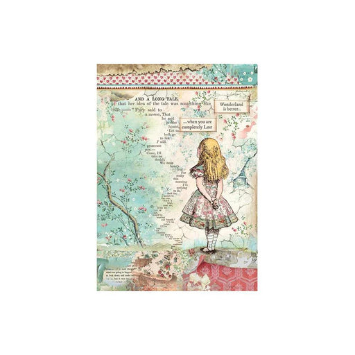 Stamperia Alice Rice Paper Sheet (DFSA4349)-Only One Life Creations