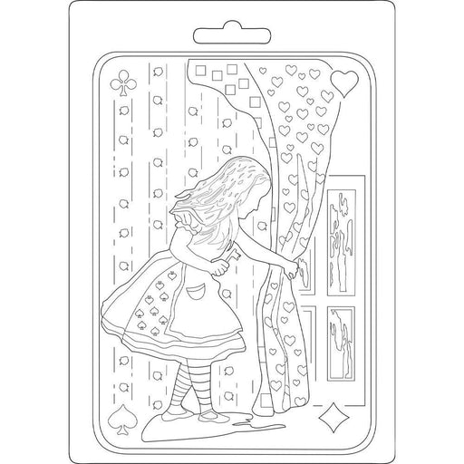 Stamperia Alice Soft Maxi Mould (K3PTA543)-Only One Life Creations